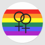 Rainbow Colored Lesbian Pride Flag Stickers