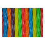 Rainbow colored licorice candy cards