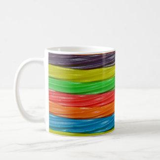 Rainbow colored licorice candy coffee mug