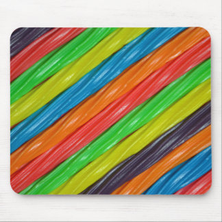 Rainbow colored licorice print mousepad