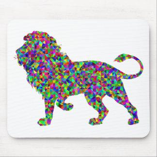 Rainbow Colored Lion Prismatic Art Mouse Pad