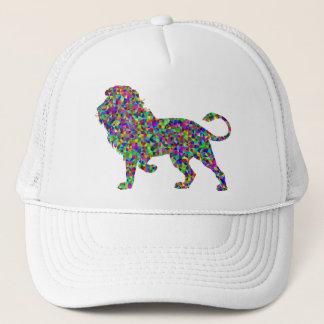 Rainbow Colored Lion Prismatic Art Trucker Hat