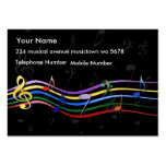 Rainbow Colored Music Notes Business Cards