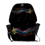 Rainbow Colored Music Notes Courier Bag at Zazzle