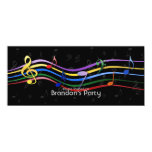 Rainbow Colored Music Notes Invitations