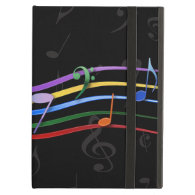 Rainbow Colored Music Notes iPad Cover