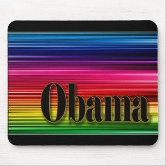 Rainbow colored Obama mousepad