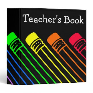 Rainbow Colored Pencils Designed Binder