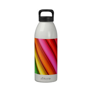 Rainbow colored pencils water bottle