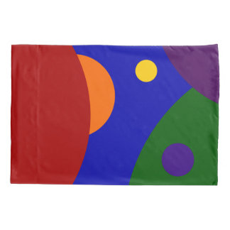 Rainbow Colored Planets Pillow Case