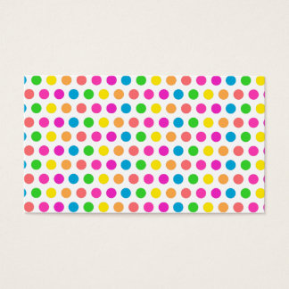 Rainbow Colored Polka Dots Fun Happy Pattern Business Card