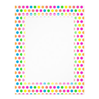 Rainbow Colored Polka Dots Fun Happy Pattern Letterhead