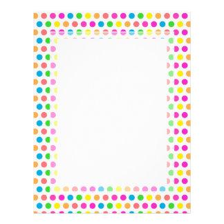 Rainbow Colored Polka Dots Fun Happy Pattern Custom Letterhead