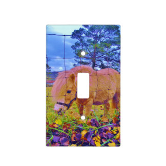 Rainbow Colored Pony Light Switch Cover