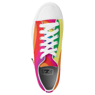 Rainbow Colored Printed Shoes