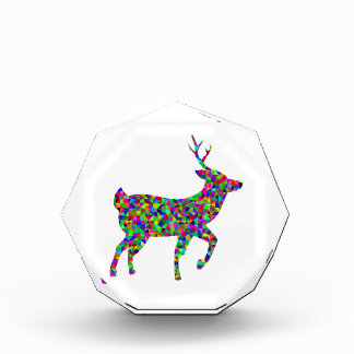 Rainbow Colored Prismatic Deer Art Award