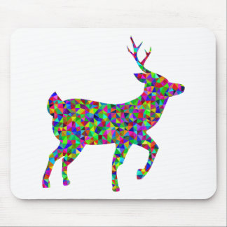 Rainbow Colored Prismatic Deer Art Mouse Pad