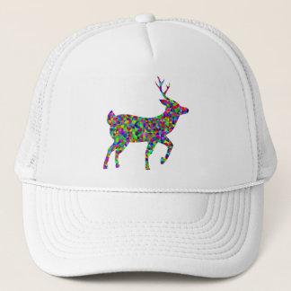 Rainbow Colored Prismatic Deer Art Trucker Hat