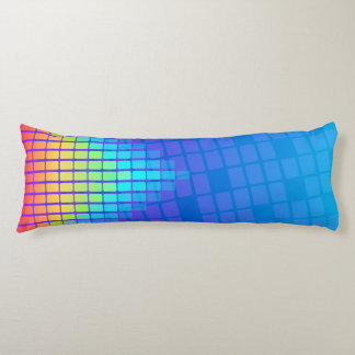 Rainbow Colored Rectangles Body Pillow