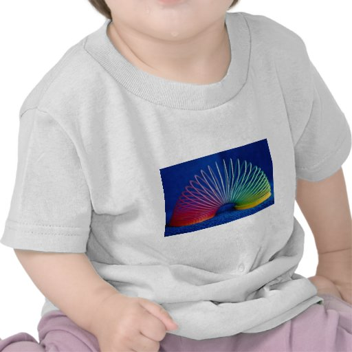 Rainbow-colored slinky toy tshirt