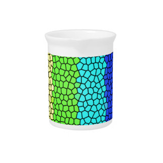 Rainbow colored stained glass (horizontal) drink pitcher