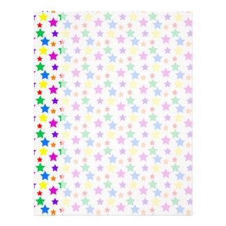 Rainbow Colored Stars Letterhead