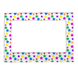 Rainbow Colored Stars Magnetic Photo Frame