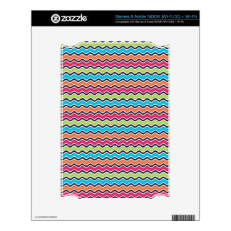 Rainbow Colored Stripe Pattern Decal For The NOOK