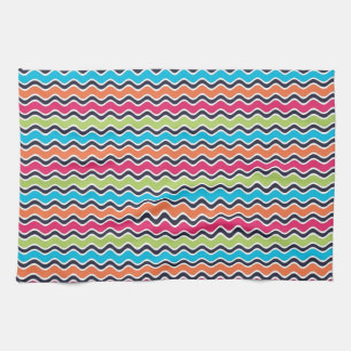 Rainbow Colored Stripe Pattern Towel