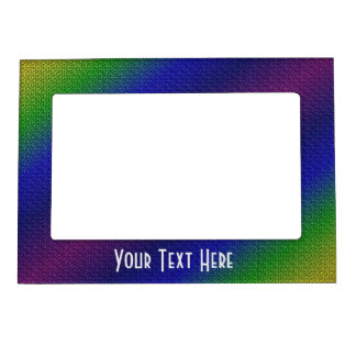 Rainbow Colored Stripes Magnetic Frame