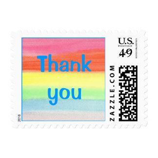 Rainbow colored, Thank you stamps