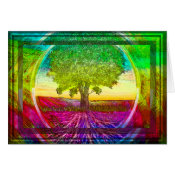 Rainbow Colored Tree of Life Card (<em>$3.15</em>)
