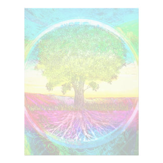 Rainbow Colored Tree of Life Flyer