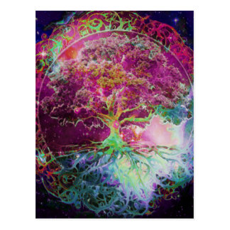 Rainbow Colored Tree of Life Postcard