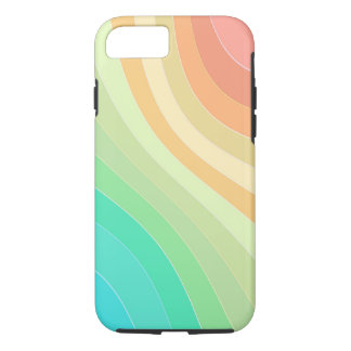 Rainbow Colored Waves iPhone 8/7 Case