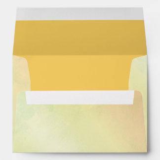 Rainbow Colored Wedding Invitation A7 Envelope