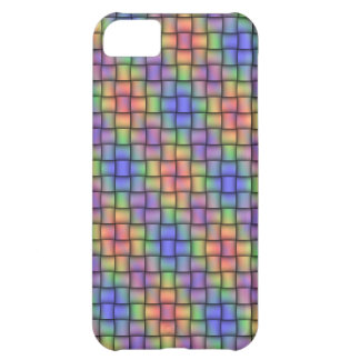 Rainbow-Colored Woven-Look Design Phone Cover