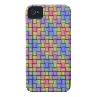 Rainbow-Colored Woven-Look Design Phone Cover iPhone 4 Case-Mate Cases