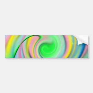 Rainbow- colorful abstract bumper sticker