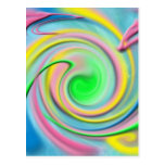 Rainbow- colorful abstract postcard