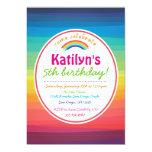 Rainbow Colorful Birthday Party Invitation