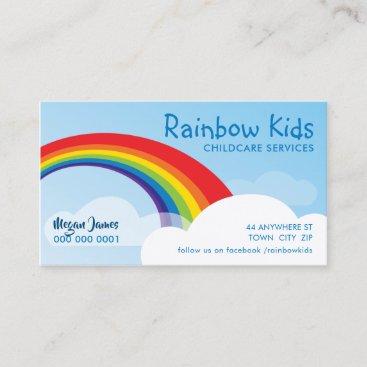RAINBOW colorful bold modern illustration Business Card