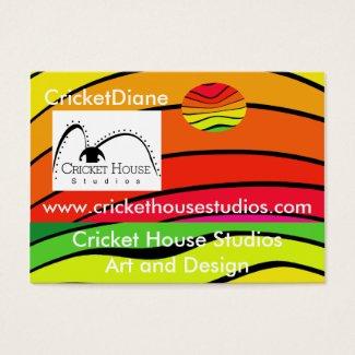Rainbow Colorful Brights Pop Art Fun CricketDiane Business Card