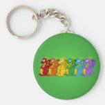 Rainbow colorful dragons cartoon Keychain Key Chains