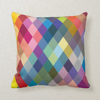 Rainbow Colorful Geometric Pillow