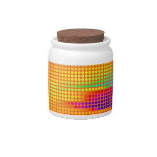 Rainbow Colorful Polka Dots Abstract Art Candy Dishes