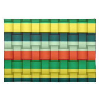 Rainbow colorful retro stripes graphic design cloth placemat