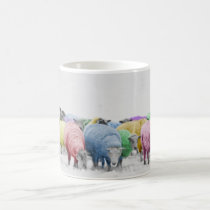 Rainbow Colorful Sheeps Coffee Mug
