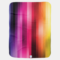 Rainbow Colorful Stripes in the Mix Baby Blanket (<em>$44.65</em>)