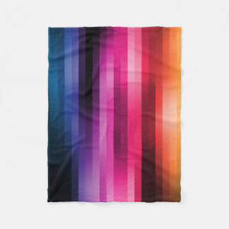 Rainbow Colorful Stripes in the Mix Fleece Blanket